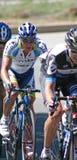 De Raceauto's van Bicyle Stock Afbeeldingen