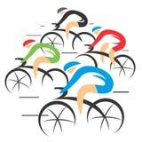 De raceauto's van de fietsweg Stock Afbeelding