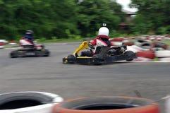 De raceauto's van de snelheids gaan-kar Stock Afbeelding
