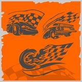 De Raceauto's van de straat Stock Afbeeldingen