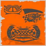De Raceauto's van de straat Royalty-vrije Stock Foto
