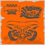 De Raceauto's van de straat Royalty-vrije Stock Afbeeldingen