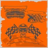 De Raceauto's van de straat Royalty-vrije Stock Fotografie