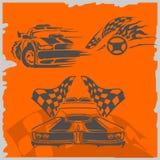 De Raceauto's van de straat Stock Foto
