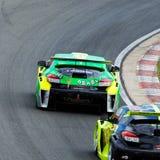 De Raceauto's van Renault Megane stock afbeelding