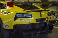 De raceauto van Chevy Corvette GT bij Daytona-Speedwaybaan Florida Stock Fotografie