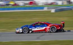 De raceauto van Ford GT bij Daytona-Speedwaybaan Florida Royalty-vrije Stock Fotografie