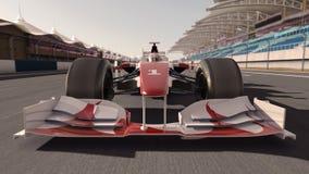 De raceauto van Formule 1 royalty-vrije illustratie