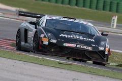 DE RACEAUTO VAN LAMBORGHINI GALLARDO GT3 Stock Foto's