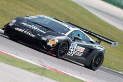 DE RACEAUTO VAN LAMBORGHINI GALLARDO GT3 Stock Fotografie