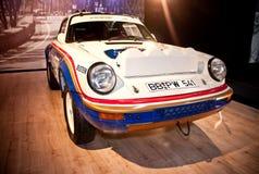 De raceauto van Porsche op vertoning Royalty-vrije Stock Foto's
