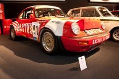 De raceauto van Porsche op vertoning Stock Afbeeldingen