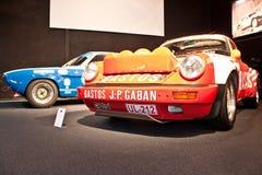 De raceauto van Porsche op vertoning Stock Afbeelding