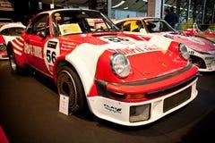 De raceauto van Porsche op vertoning Royalty-vrije Stock Foto