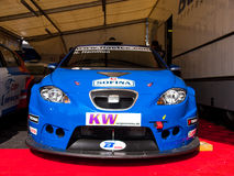 De raceauto van Seat Leon Stock Afbeeldingen