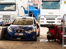 De raceauto van Seat Leon Royalty-vrije Stock Foto