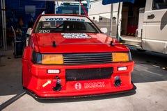 De raceauto van Toyota Corolla AE86 stock foto's