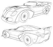De Raceautovector van de luxesport Ge?soleerdj op witte achtergrond stock fotografie