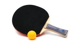 De racket en de bal van het tennis Royalty-vrije Stock Afbeeldingen