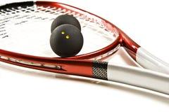 De racket en de ballen van de pompoen Royalty-vrije Stock Foto's