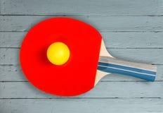 De racket van de pingpong stock fotografie