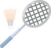 De racket van het badminton royalty-vrije illustratie