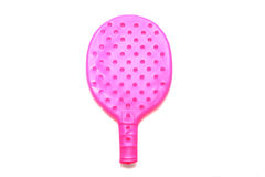 De Racket van het pingpong op witte achtergrond Royalty-vrije Stock Fotografie