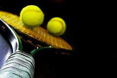De racket van het tennis Stock Foto's