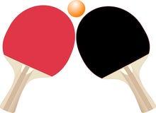 De rackets van het pingpong Stock Fotografie