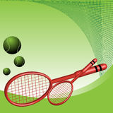 De rackets van het tennis stock illustratie