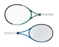 De rackets van het tennis stock afbeelding