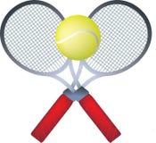 De rackets van Teenis Stock Afbeelding