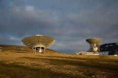 De radar ESR van EISCAT Svalbard stock foto