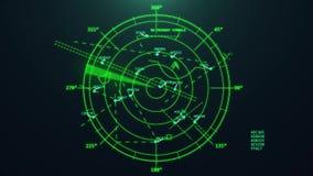 De radar van de luchtverkeerscontrole royalty-vrije illustratie