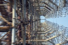 De Radar van Tchernobyl Duga Stock Foto's