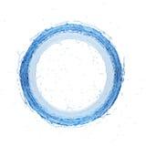De radiale 3d teruggevende 3d illustratie van de waterplons Stock Foto's