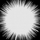 De radiale grafische gevolgen van Snelheidslijnen voor gebruik in grappig stock illustratie