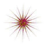 De radiale Kleuren van de Ster Stock Afbeelding