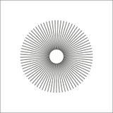De radiale lijnen vatten geometrisch element samen Spokes, die strepen uitstralen vector illustratie