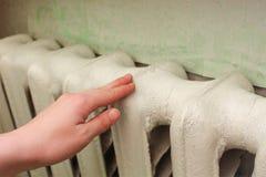 De radiator in de woonkamer Royalty-vrije Stock Foto's