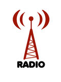 De radio gestileerde vector van het antenneembleem Royalty-vrije Stock Fotografie