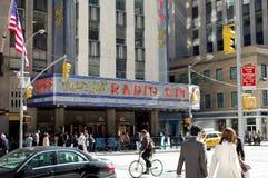 De radio teatro de variedades la ciudad en New York City Foto de archivo libre de regalías