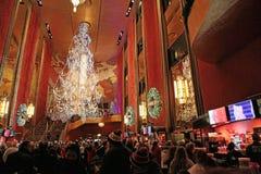 De radio teatro de variedades, New York City la ciudad Foto de archivo libre de regalías