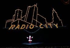De radio teatro de variedades, New York City la ciudad Imagen de archivo libre de regalías