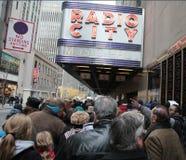De radio teatro de variedades, New York City la ciudad Imágenes de archivo libres de regalías