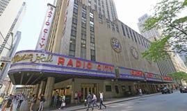 De radio teatro de variedades, New York City la ciudad Fotografía de archivo