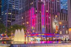 De radio teatro de variedades, Nueva York la ciudad Foto de archivo libre de regalías