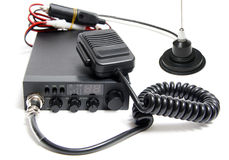 De radio van het citizens band met microfoon Royalty-vrije Stock Fotografie