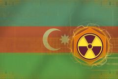 De radioactieve bedreiging van Azerbeidzjan Het concept van het stralingsgevaar vector illustratie