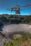 De radiotelescoop van het Arecibowaarnemingscentrum in Puerto Rico Royalty-vrije Stock Foto's